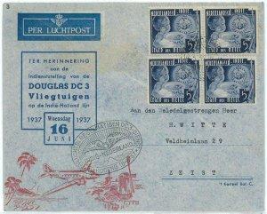 93727 - DUTCH INDIES - POSTAL HISTORY - FIRST Flight COVER  Mu # 98 Douglas DC 3