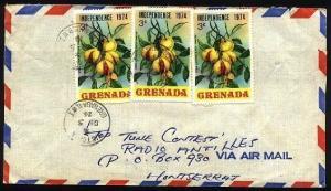 GRENADA 1974 Cover to Montserrat - VICTORIA village cds....................96286