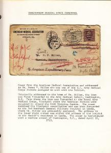 1918, AEF in BEF: US Medical Corp: Chicago, IL, See Remark (M3589)