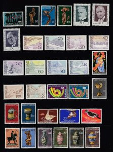 LIECHTENSTEIN - 100 Different - All MNH - 1972 to 1977 - Many Sets - High SCV