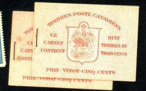 CANADA #25LA (2) MINT BOOKLETS FVF NH Cat $20