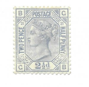 #82 Britain PL 21 MH H.H.N. S,C, - CAT $712.00 (Premium Added) - Stamp