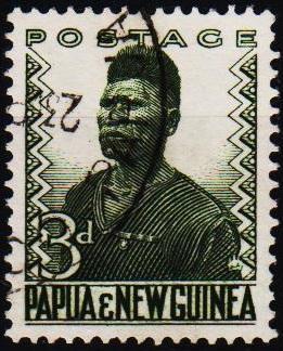 Papua New Guinea.1952 3d S.G.5 Fine Used