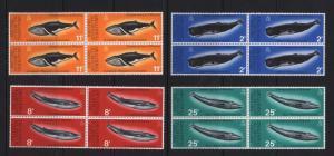 British Antarctic Territory #64 - #67 VF/NH Block Set