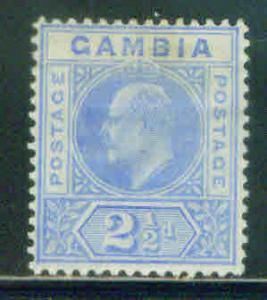 GAMBIA Scott 45 MH* KEVII stamp CV$7