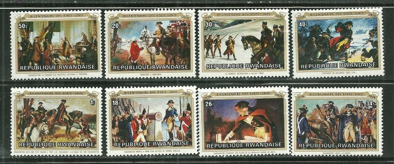 Rwanda MNH 722-9 American Bicentennial 1976
