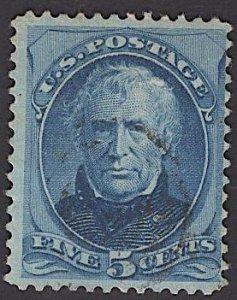 US Stamp #185 5c Blue Taylor USED SCV $16