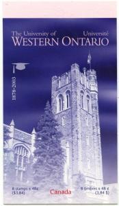 Canada - 2003 University of Western Ontario Booklet #BK268b