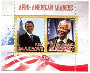 Malawi 2008 OBAMA & MANDELA s/s Perforated Mint (NH)