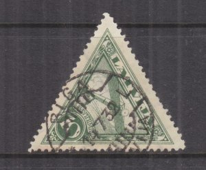 LATVIA, 1931 Air, Triangle, watermark Swastikas, perf. 11, used.