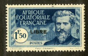 FRENCH EQUATORIAL AFRICA 111 MH SCV $4.00 BIN $1.75 PERSON