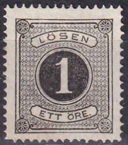 Sweden #J1  Unused  CV $75.00  (Z6327)