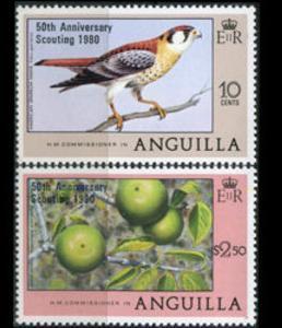 1980 Anguilla Scott 387-388 50th Anniversary Scouting MNH