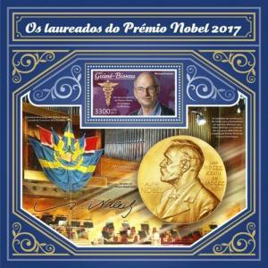 Guinea-Bissau - 2017 Nobel Prize - Stamp Souvenir Sheet - GB17808b