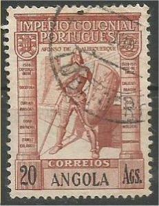 ANGOLA, 1938, used 20a Vasco da Gama Scott 291