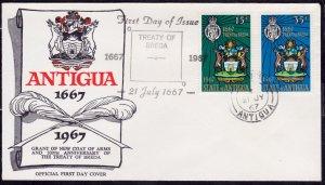 Antigua 1967, 300th Anniversary of Treaty of Breda, FDC
