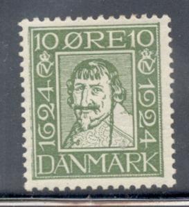 Denmark Sc 165 1924 10 o Christian IV stamp mint