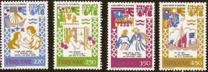 Faroe Islands 1982 #86-9 MNH. Medieval ballads, legends
