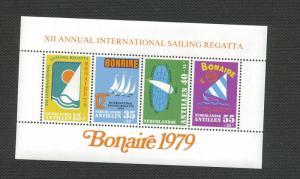 Netherland Antilles MNH S/S B165a Sailing Boat Regatta 1979