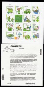 2011 USA #4524 Go Green Forever Sheet MNH