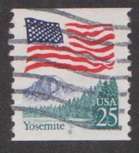 US #2280a Yosemite Flag Used PNC Single prephoshor plate #6