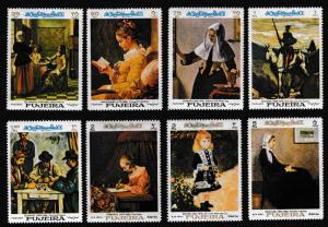 Fujeira Famous Paintings 8v MI#198-205
