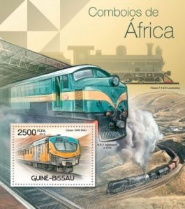 GUINE BISSAU 2012 SHEET AFRICAN TRAINS TRENES LOCOMOTIVES LOCOMOTORAS gb12310b