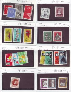 Z641 JL stamps germany DDR mnh with sets on sales cards, been checked & sound
