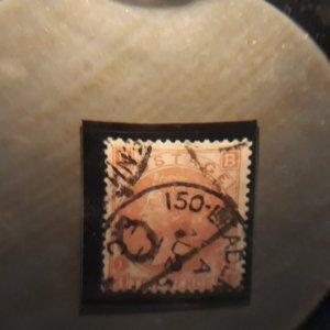 GB 53 1867 3 pence  used F