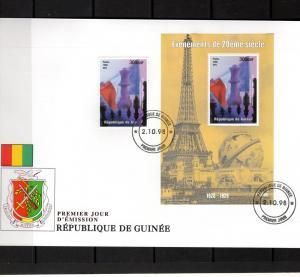 Guinea 1998 CHESS Alexandre Alekhine 1927 Set+SS FDC # 1432