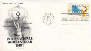 1975, Honoring Intl. Women's Year, Unaddressed, Artcraft, FDC (D7169)