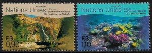 UN, Geneva #333-4 MNH Set - World Heritage Sites - Australia