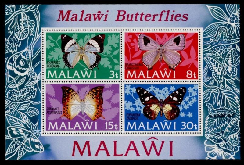 Malawi 202a MNH Butterflies, Insects