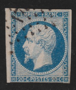 France 1854 Sc15 Used