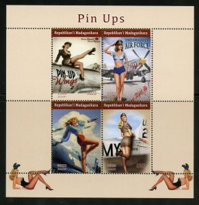 Madagascar 2020: Pin Up Art set of two sheets mint never hinged