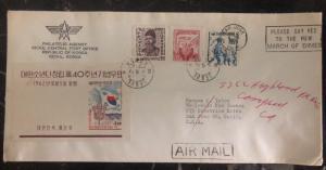 1963 Seoul Korea Philatelic Agency Cover To San Jose Ca USA
