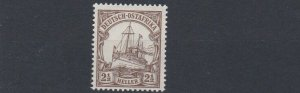 GERMAN EAST AFRICA  1905 - 20  S G 34  2 1/2H  BROWN     MNH