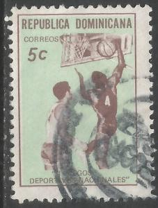 DOMINICAN REPUBLIC 681 VFU SPORTS A892-3