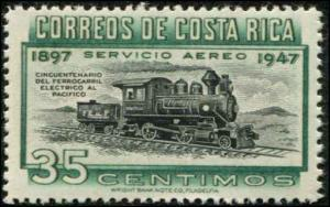 Costa Rica SC# C159 Steam Engine 35c MNH