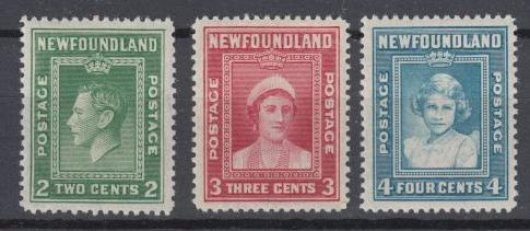 Newfoundland - 1938 Royal Family Sc## 245/247 - MH (9410)