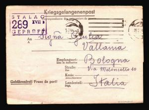 Germahy 1955 POW Letter Cover to Italy / Stalag 289 XVIIB - Z14406