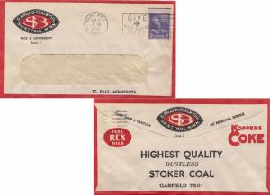 United States Minnesota Saint Paul 1953 machine  Obverse and Reverse Red and ...
