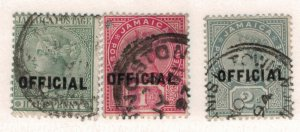 Jamaica Scott #O2 To O4, Overprinted Official Stamp Issue From 1890-1