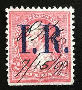 R155A Pink, Type IV, Blue IR, 1898, hinged, Vic's Stamp Stash