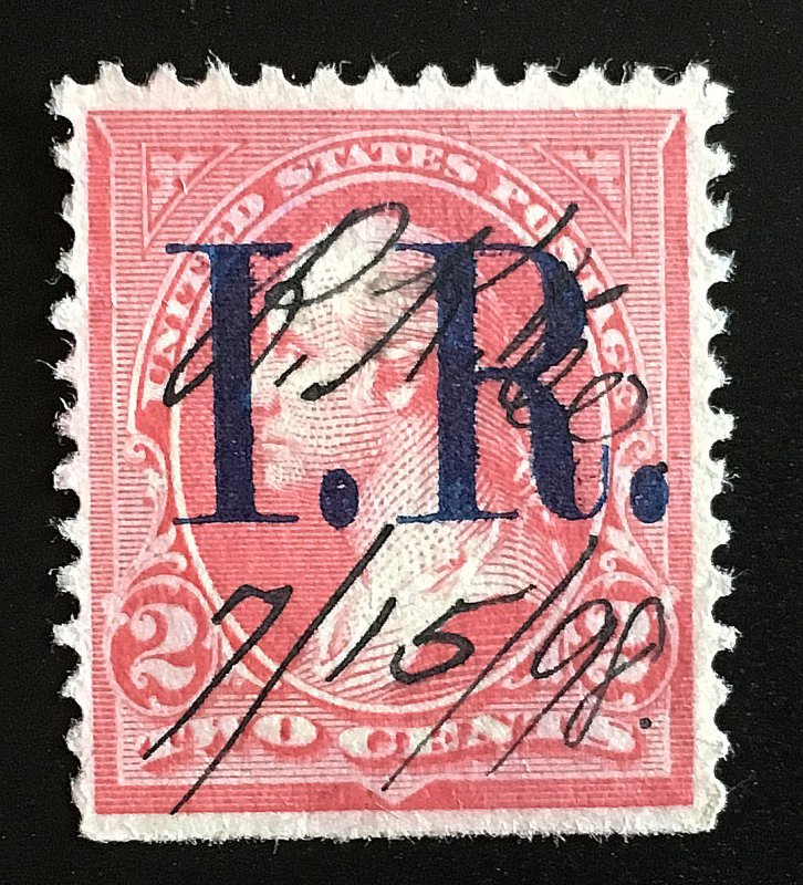 R155A Pink, Type IV, Blue IR, 1898, hinged, Vic's Stamp Stash