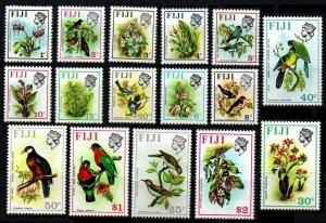1971 Fiji 276-291X Birds and flowers 60,00 €
