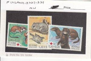 J25763  jlstamps 1982 finland set mnh #b227-9 animals all checked