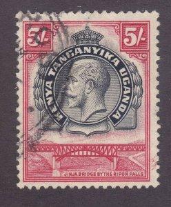 Kenya Uganda & Tanzania 57 Used 1935 5sh Carmine & Black KGV VF