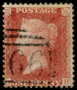 SG40, 1d rose-red PLATE 39, LC14, FINE USED. Cat £25.