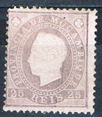 Mozambique 18 MLH King Luiz 1886 (HV0051)